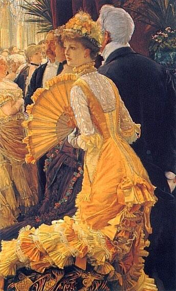 coiffure de bal. James Tissot Le Bal, 1883-1885